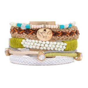 Elise Stack Strand Bracelet by Plunder Design